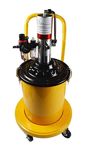 5 Gal Air Grease Injector Pneumatic Compressed Pump High Pressure Delivery Fill (Air Injector Power)
