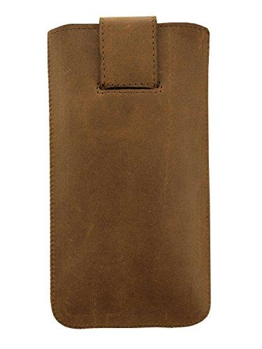 """OrLine Echtes Leder Slim Case Tasche mit Klappe und Pull-up Strap für Apple Iphone 6 4,7"""""""