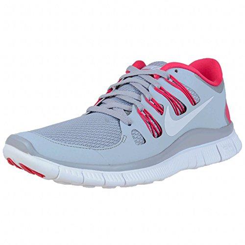 Dame Nike Free 5.0+ Loopschoenen Wolf Grijs / Wit / Roze Force