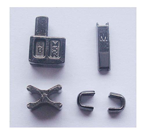 2 Sets Gun Metal #5 Metal Zipper Head Box Zipper Sliders Retainer Insertion pin Easy for Zipper Repair,Zipper Repair Kit (#5)