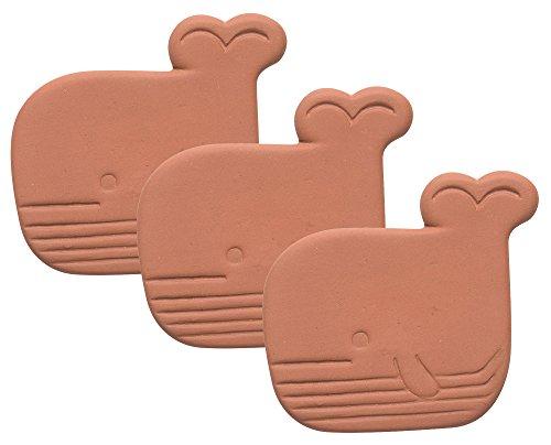 Now Designs Terracotta Brown Sugar Saver, Set of Three, Wanda Whale