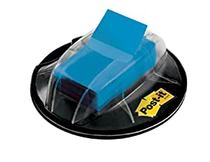 Post-it Flags, Blue, 1-Inch Wide, 200/ Desk Grip Dispenser (680-HVBE)