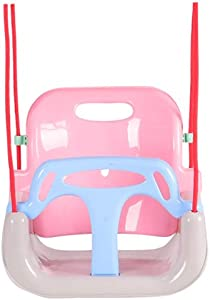 3 in 1 Kids Swing, Swing Seat for Baby/Toddler/Kids, with Adjustable Ropes, Snug & Secure Swing Seat Great for Tree/Swing Set, Indoor, Outdoor, Playground, Background (Pink)