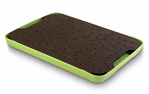 Simpleware ECOBLK401 Eco Flow Perforated Cutting Board44; Black-Green - Cutting Tray Board