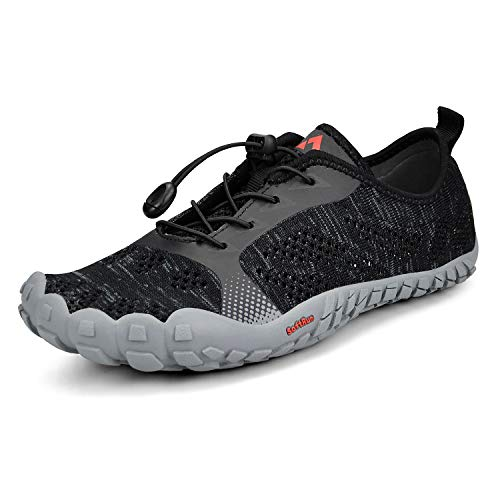 Troadlop Mens Wide Quick Dry Barefoot Hiking Water Shoes Black 11.5 D(M) ()