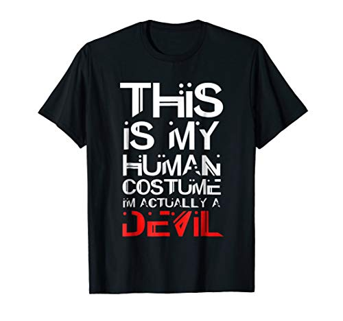Scary DEVIL Halloween Costume Shirt SATAN LUCIFER SHIRT