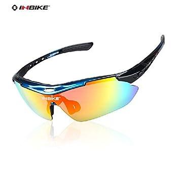 Gafas de ciclismo INBIKE a prueba de rayos UV, polarizadas con 5 lentes remplazables,