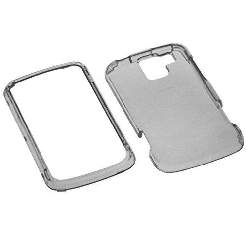 MYBAT LGVS700HPCTR010NP Durable Transparent Case for  LG: VM701 (Optimus Slider), LS700 (Optimus Slider), VS700 (Enlighten/ Gelato Q)  - 1 Pack - Retail Packaging - Smoke (Lg Optimus Slider Cover)
