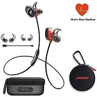 Bose SoundSport Pulse | Sport Heart Rate Bluetooth Wireless In-Ear Headphones - Red & Charging Case - Bundle
