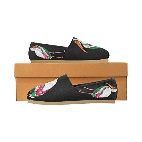 Interestprint Éléphant Abstrait Mocassins Chaussures Occasionnels Pour Les Hommes Femmes Oiseau De Cigogne