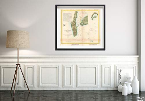 1853 U.S.C.S. Antique of San Diego Bay and Los Coronados Map|Vintage Fine Art Reproduction|Size: 22x24|Ready to Frame