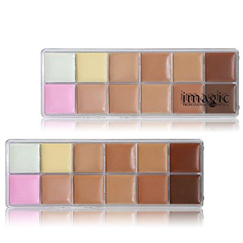 Profissional 12 Colors Cosmetic Camouflage Concealer Palette Face Makeup Face Cream Concealer Palette ()