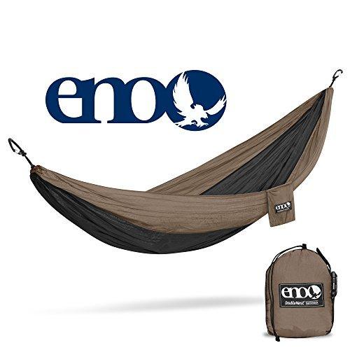 - ENO Eagles Nest Outfitters - DoubleNest Hammock, Portable Hammock for Two, Khaki/Black