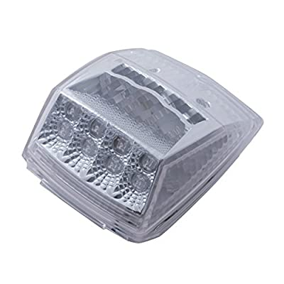 United Pacific 17 Led Reflector Square Cab Light - Amber Led/Clear Lens: Automotive