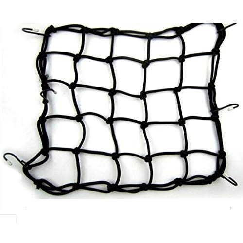 Mantain Heavy-Duty Elastic Bungee Luggage Cargo Net Mesh Holder 6 Adjustable Hooks for Motorcycle Helmet ATV Bike