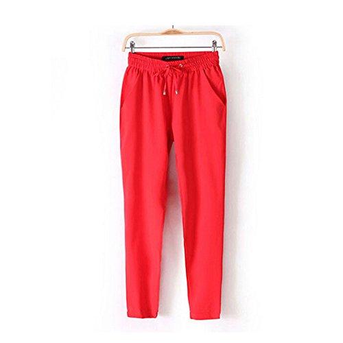 Pantalon Jegging Femme Jegging Red Red Lobzon Lobzon Lobzon Femme Pantalon Pantalon wC6CqcP5