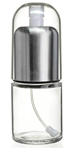 Premium Olive Oil Mister and Cooking Sprayer with Clog-Free Filter and Glass Bottle by CHEFVANTAGE - Stainless Steel