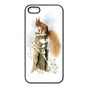 K-G-X Phone case For Apple Iphone 5 5S Cases Case-Pattern-9 Happy Squirrel Pattern Protective Back Case