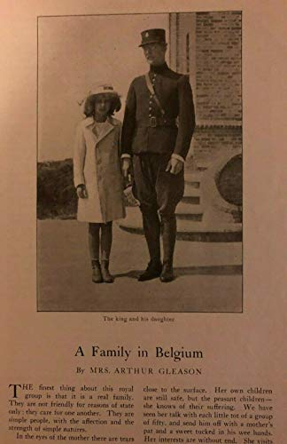 1916 Belgian Royal Family King and Queen of Belgium illustrated