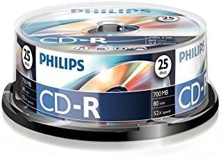 Philips CD-R CR7D5NB25/00 - CD-R vírgenes, 700 MB, 80 min, 52x ...