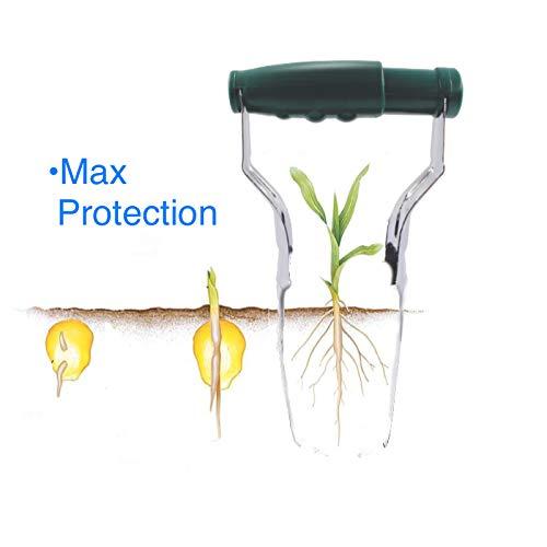 Bulb Planter Tulip Transplanter Depth Marks Bundle Includes: Garden Claw Gloves Padded Kneeler by Cardinal Home (Image #2)