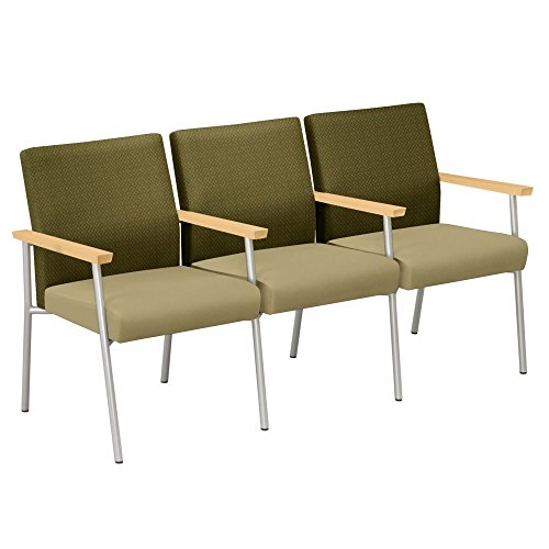 (Uptown Three Seat Loveseat with Center Arms Dimensions: 67.5