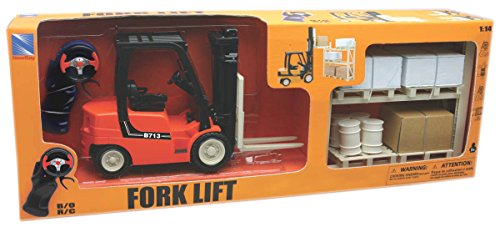 New Ray Forklift With Rack Set