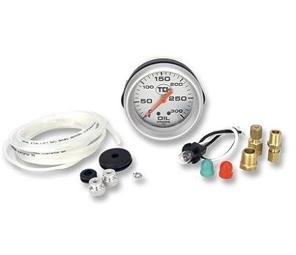 TCI 801100 Pressure Gauge 2-5//8 Transmission Black Face