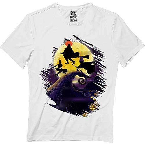 Hocus Pocus Witches Halloween Full Moon Nightmare Tshirt White -