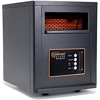 Image of Home and Kitchen AirNmore Comfort Deluxe with Copper PTC, Infrared Space Heater with Remote, 1500 Watt, ETL Listed