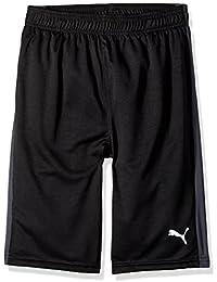 Big Boy's Boys' Form Stripe Short Shorts, Black, Large