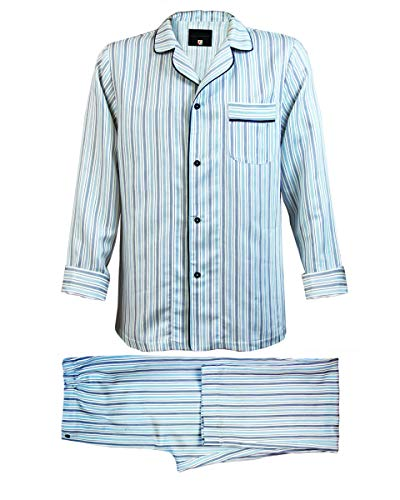 Armani Linen Trousers - Armani International Vincenzo Linen Cotton Sateen Pinstriped XX-Large Off White/Blue