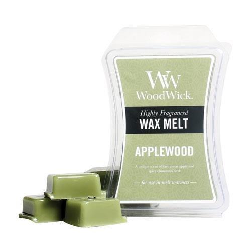 UPC 663595341011, Applewood WoodWick Hourglass 3 oz Wax Melt