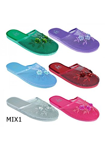 Chinese Chinese WP Lavender Slippers Mesh Women's Sandals Mesh pfqHq5A