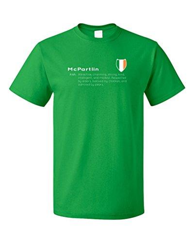 """McPartlin"" Definition | Funny Irish Last Name Unisex T-shirt"
