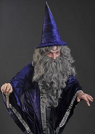 Dumbledore estilo mago gris peluca y barba Set