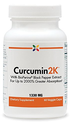Stop Aging Now Curcumin2K Formula 1330 mg, with BioPerine Black Pepper,60 veggie caps