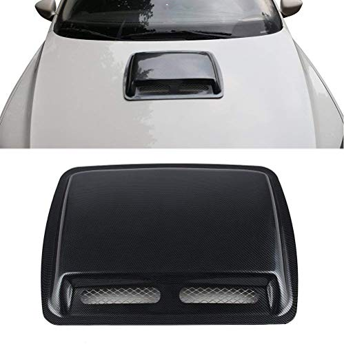 Car Styling Carbon Fiber Style (not Real) Stickers ABS Car Decorative Air Flow Intake Hood Scoop Turbo Bonnet Vent Cover Hood Carbon Fiber
