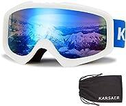 Karsaer Ski Goggles, OTG, Anti-Fog & Helmet Compatible Fit Snow Goggles for Men &am