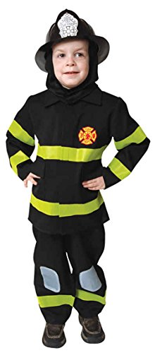 UHC Little Boy's Uniform Fireman Fire Fighter Toddler Kids Halloween Costume, 3T-4T (Mascot Uniforms)