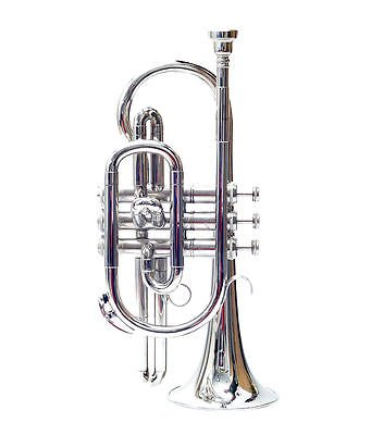 Cornet, Bb, Nickel With Free Case + Mouthpiece shry039 by SHREYAS