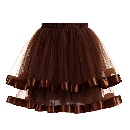 Lightclub Girls Double Layers Vintage Tutu Skirt Prom Evening Party Dress (Double Layer Tutu)