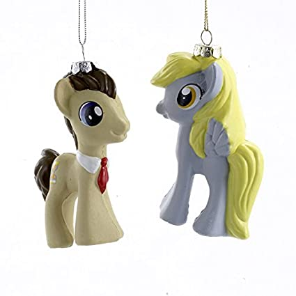 my little pony derpy and dr hooves horse christmas ornaments set of 2 - Horse Christmas Ornaments
