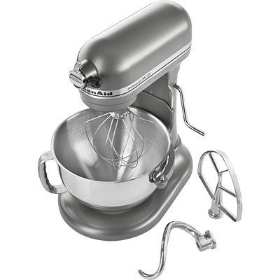 KitchenAid Certified Refurbished RKSM6573CU 6-Qt. Professional Bowl-Lift Stand Mixer - Contour Silver