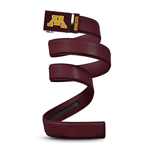 (NCAA Minnesota Golden Gophers Mission Belt, Maroon Leather, Custom (up to 56))