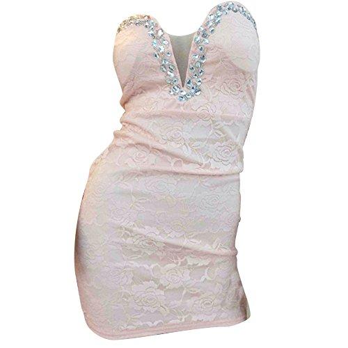 Pinkyee CLAK0232956 - Vestido Rosa