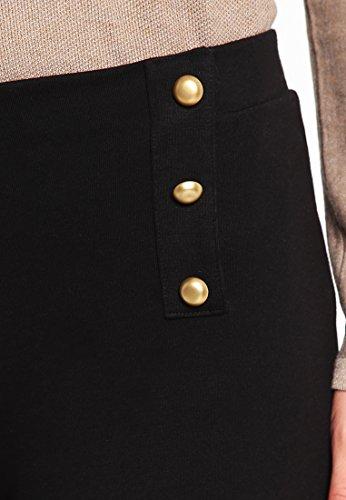 Anna Field Marlene Hose schwarz - Damen Hosen elegant High Waist - Damenhose weites Bein - Palazzohose aus Viskose - Stoffhose mit Schlag & hohem Bund - Loose Fit Hose