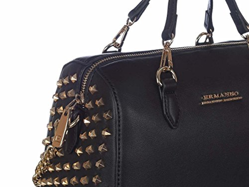 ERMANNO SCERVINO Borsa Baulotto New Anya Donna 12400431 ES159 Nero Primavera Estate 2018