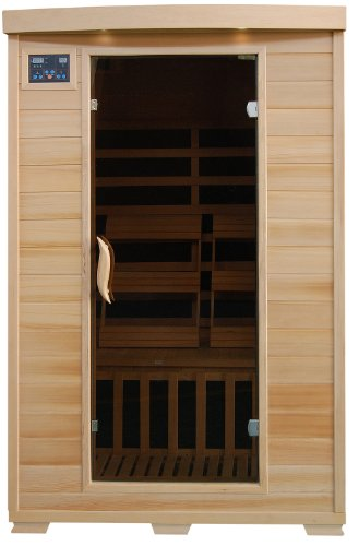 Coronado SA2409 2 Person Sauna with Carbon Heaters Bronze Tinted Tempered Glass Door Oxygen Ionizer CHROMOTHERAPY system Towel Hooks Magazine Racks and Sound System ()