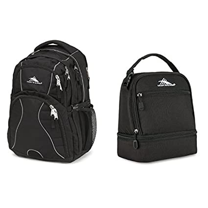 fcbe913d45da7f Image Unavailable. Image not available for. Color: High Sierra Swerve  Backpack, Black and High Sierra Stacked Compartment Lunch ...